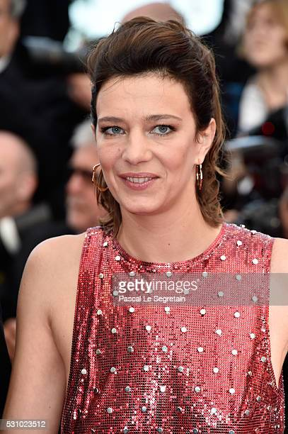 Actress Celine Sallette attends the 'Money Monster' premiere during the 69th annual Cannes Film Festival at the Palais des Festivals on May 12 2016...