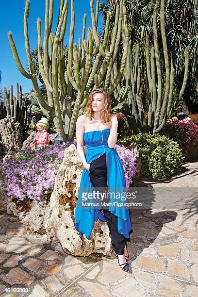 106430031 Actress Celine Sallette is photographed for Madame Figaro on May 19 2013 at the Jardin Exotique de Monaco in Monaco Monaco Clothing and...