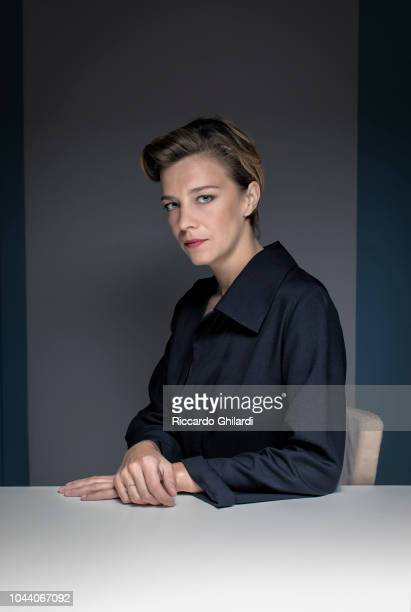 Actress Celine Sallette is photographed for Self Assignment on September 2018 in Venice Italy