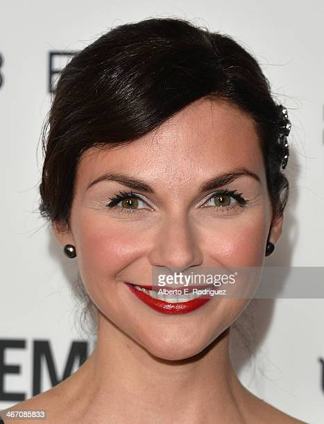 Actress Ceri Bethan arrives to the premiere of Cavemen at the ArcLight Cinemas on February 5 2014 in Hollywood California
