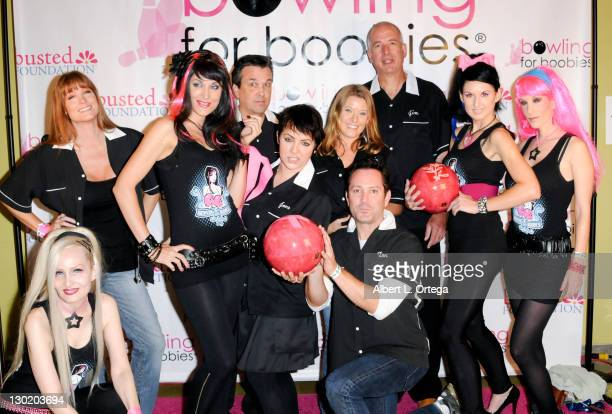 Actress Cerina Vincent actress Ashlynn Yennie FX artist Jacky Belle writer Sean Decker actress Brooke Lewis and actress Allison Kyler participate in...