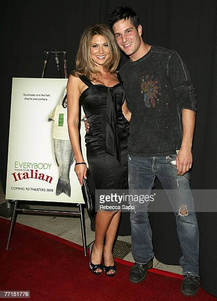 Actress Cerina Vincent and actor Jay Jablonski arrive at the premiere of Everyone Wants to Be Italian at the Egyptian Theatre on October 1 2007 in...
