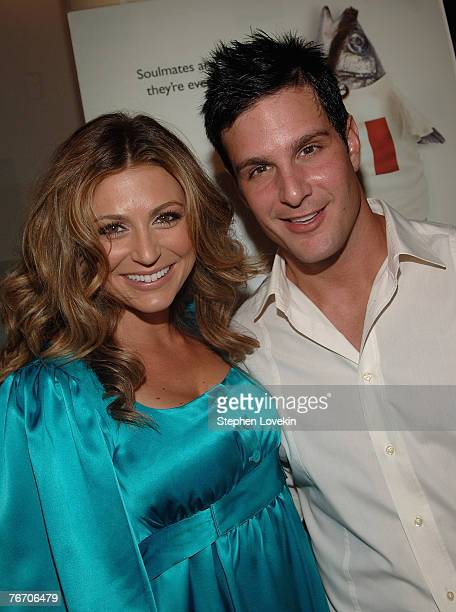 Actress Cerina Vincent and actor Jay Jablonski at the premiere of 'Everybody Wants to be Italian at Angelika Cinema in New York City on September...