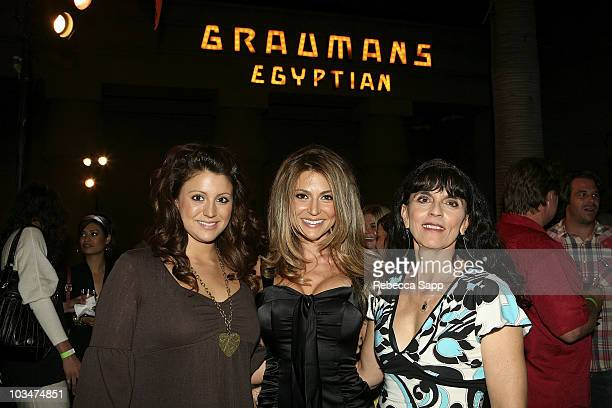 Actress Cerina Vincent and family at the after party for Everyone Wants to Be Italian at the Egyptian Theatre on October 1 2007 in Hollywood...