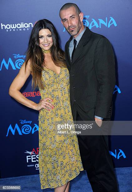 Actress Cerina Vincent and Mike Estes arrive for the AFI FEST 2016 Presented By Audi Premiere Of Disney's Moana held at the El Capitan Theatre on...