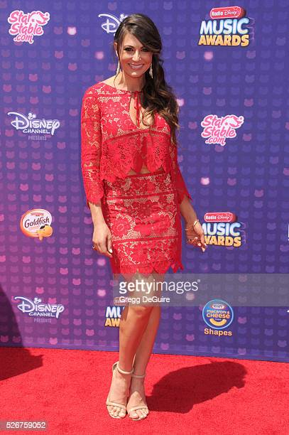 Actress Cerina Vincent arrives at the 2016 Radio Disney Music Awards at Microsoft Theater on April 30 2016 in Los Angeles California