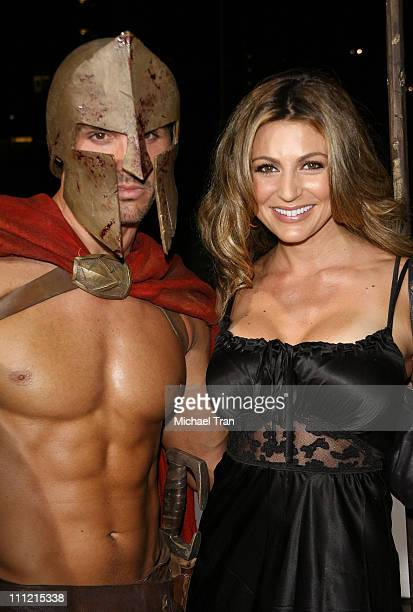 Actress Cerina Vincent arrives at the 300 DVD Release Party at Petco Stadium on July 27 2007 in San Diego California