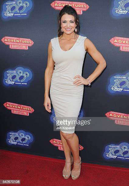 Actress Cerina Vincent arrives at the Premiere Of 100th Disney Channel Original Movie Adventures In Babysitting And Celebration Of All DCOMS at...