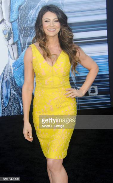 Actress Cerina Vincent arrives for the Premiere Of Lionsgate's Power Rangers held on March 22 2017 in Westwood California
