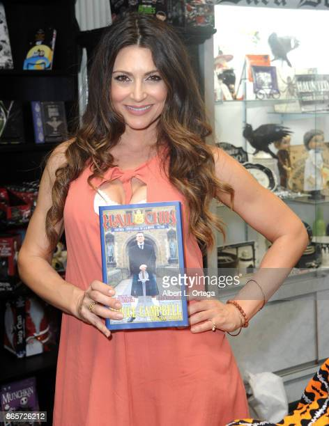 Actress Cerina Vincent at Bruce Campbell's book signing for Hail To The Chin held at Dark Delicacies Bookstore on October 23 2017 in Burbank...