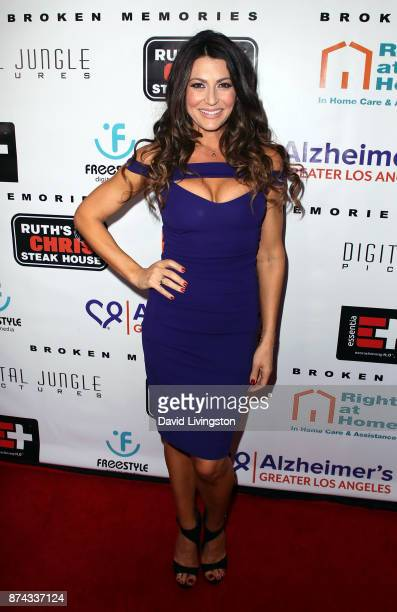 Actress Cerina Vincent attends a benefit screening of Digital Jungle Pictures' Broken Memories at the Writers Guild Theater on November 14 2017 in...
