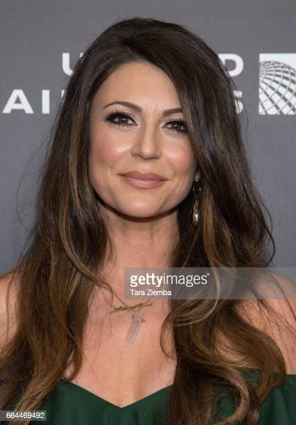 Actress Cerina Vincent attends the Los Angeles premiere of Disneynatures BORN IN CHINA at Billy Wilder Theater on April 3 2017 in Los Angeles...