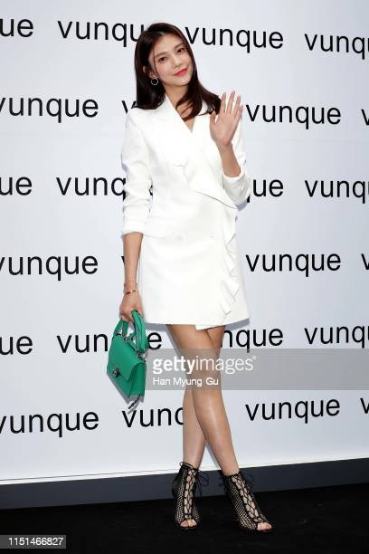 Actress Cha Hye-Ryeon attends the photocall for 'Vunque' 1st Chung Dahm flagship store opening on May 24, 2019 in Seoul, South Korea.