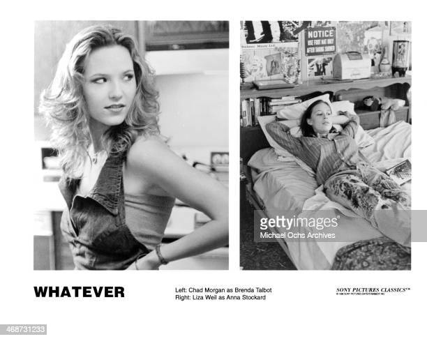 Actress Chad Morgan on set actress Liza Weil on set of the movie 'Whatever' circa 1998