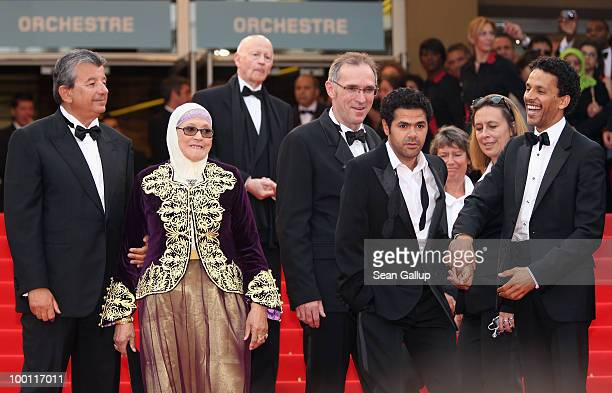 Actress Chafia Boudraa Jamel Debbouze and Sami Bouajila attend the 'Outside Of The Law' Premiere at the Palais des Festivals during the 63rd Annual...