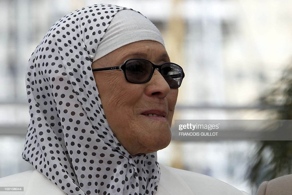 Actress Chafia Boudraa poses during the photocall of 'Hors La Loi' (Outside of the Law) presented in competition at the 63rd Cannes Film Festival on May 21, 2010 in Cannes.