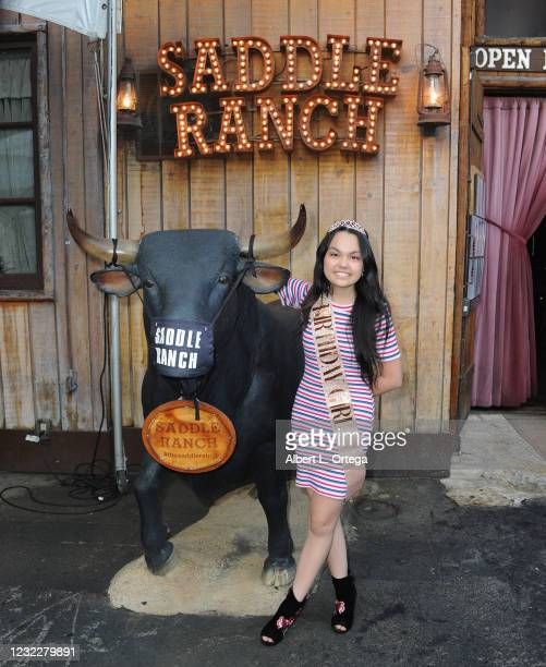 Actress Chalet Lizette Brannan attends her Sweet 16 Birthday Party held at Saddle Ranch Chop House on April 12, 2021 in West Hollywood, California.