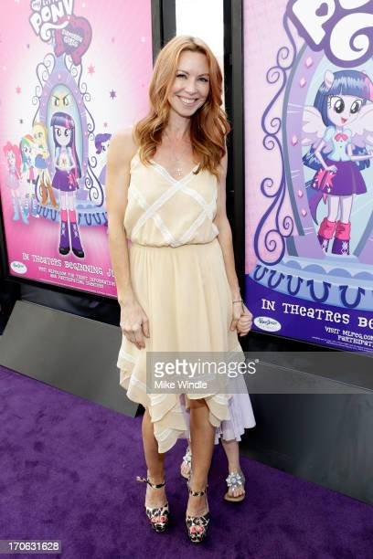 Actress Challen Cates attend the 'Purple Carpet' premiere of 'My Little Pony Equestria Girls' presented by Hasbro Studios and LAFF at Regal Cinemas...