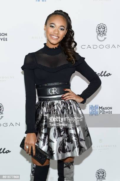 Actress Chandler Kinney attends Bello Magazine's December Issue Launch Party with 'Modern Family' star Nolan Gould at Hills Penthouse on December 12...