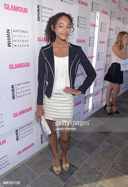 Actress Chandler Kinney attends the 4th Annual Women Making History Brunch presented by the National Women's History Museum and Glamour Magazine at...