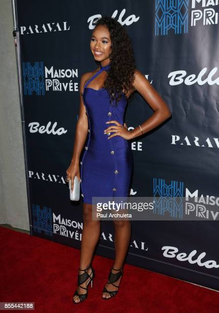 Actress Chandler Kinney attends the Bello and Maison privee Party at Hills Penthouse on September 28 2017 in West Hollywood California
