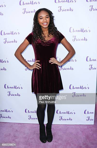 Actress Chandler Kinney attends the 'Chandler's Friends' toy wrapping party on behalf of Hasbro's The Joy Maker Challenge at Los Angeles Ballet...