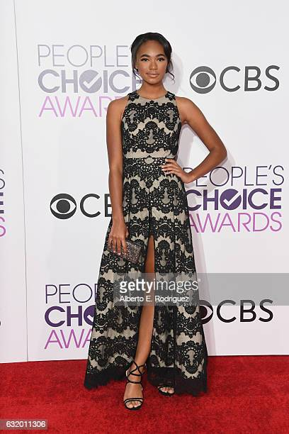 Actress Chandler Kinney attends the People's Choice Awards 2017 at Microsoft Theater on January 18 2017 in Los Angeles California
