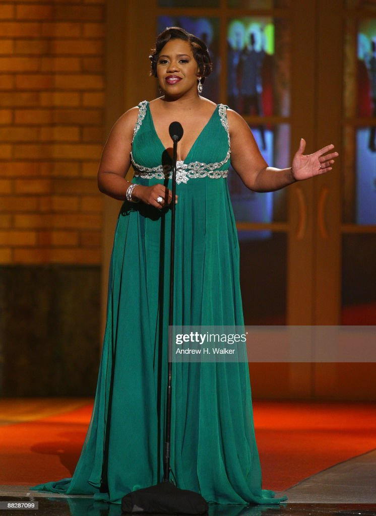 Actress Chandra Wilson speaks onstage during the 63rd Annual Tony Awards at Radio City Music Hall on June 7, 2009 in New York City.