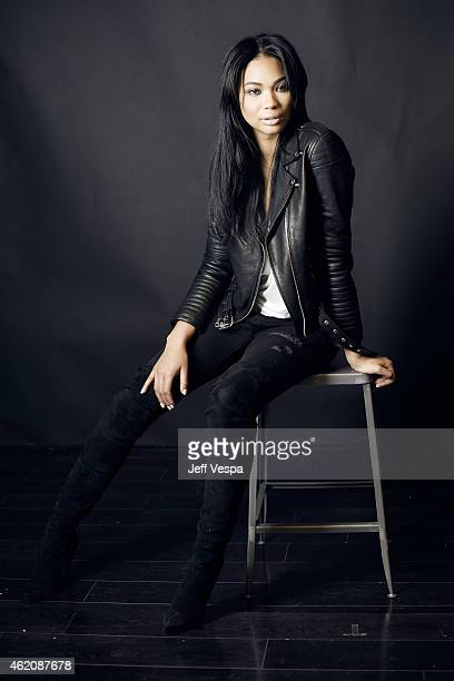 Actress Chanel Iman from 'Dope' poses for a portrait at the Village at the Lift Presented by McDonald's McCafe during the 2015 Sundance Film Festival...
