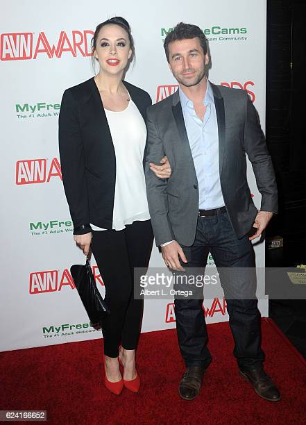 Actress Chanel Preston and actor James Deen arrive for the 2017 AVN Awards Nomination Party held at Avalon on November 17 2016 in Hollywood California