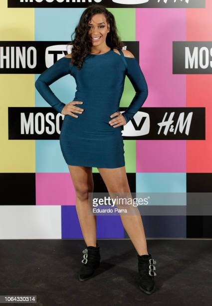 Actress Chanel Terrero attends the 'H&M Moschino ' photocall at Rolling Space on November 06, 2018 in Madrid, Spain.