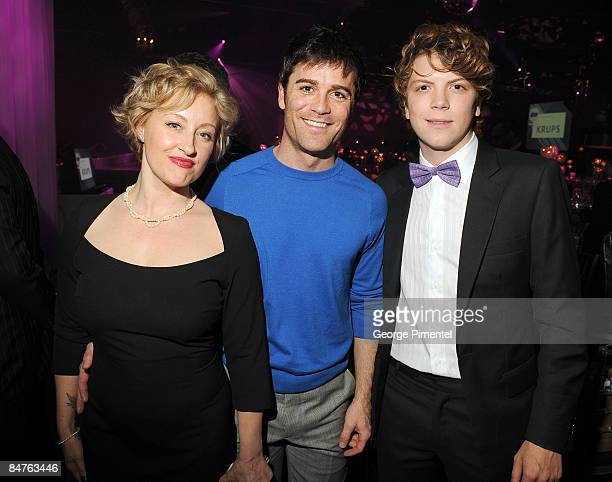 Actress Chantal Craig actor Yannick Bisson and actor Michael Seater attend the Canadian Film Centre 2009 Gala and Auction at the Kool Haus on...