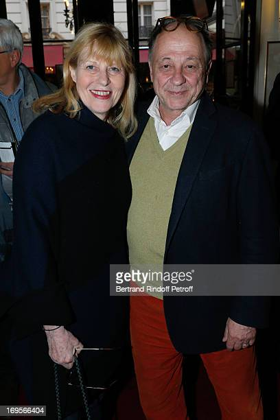 Actress Chantal Ladesou and her husband Michel Ansault attend Homage To French Actor JeanClaude Brialy at Theatre des Bouffes Parisiens with the...
