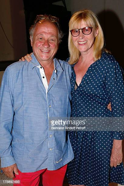 Actress Chantal Ladesou and her husband Michel Ansault attend Christelle Chollet one woman show The New Show written and set stage by Remy Caccia at...
