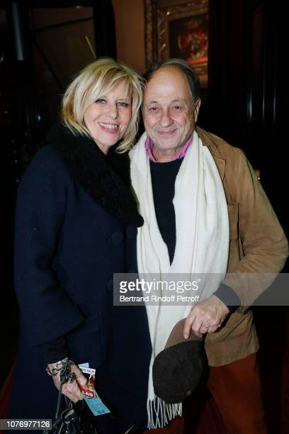 Actress Chantal Ladesou and her husband Michel Ansault attend the Alex Lutz's concert with the Group of singer Guy Jamet which he played in the movie...