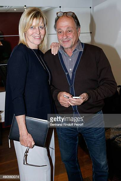 Actress Chantal Ladesou and her husband Michel Ansault attend the 'Vivement Dimanche' French TV Show at Pavillon Gabriel on September 29 2015 in...
