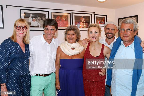 Actress Chantal Ladesou humorist Tex President of Ramatuelle Festival Jacqueline Franjou humorist Christelle Chollet her husband Remy Caccia and...