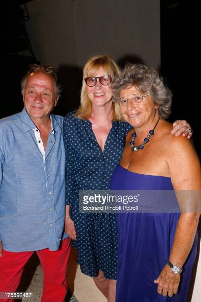Actress Chantal Ladesou with her husband Michel Ansault and President of Ramatuelle Festival Jacqueline Franjou attend Christelle Chollet one woman...