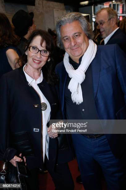 Actress Chantal Lauby and actor of the movie Christian Clavier attend the 'A bras ouverts' Paris Premiere at Cinema Gaumont Opera on March 30 2017 in...