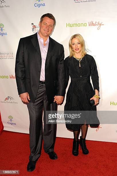 Actress Chantal Sutherland and a guest arrive at the Los Angeles Derby prelude party at The London Hotel on January 12 2012 in West Hollywood...