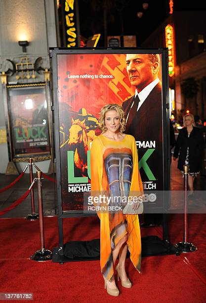 Actress Chantal Sutherland arrives at the premiere of HBO's Luck at Grauman's Chinese Theatre in Hollywood California January 25 2012 AFP PHOTO /...