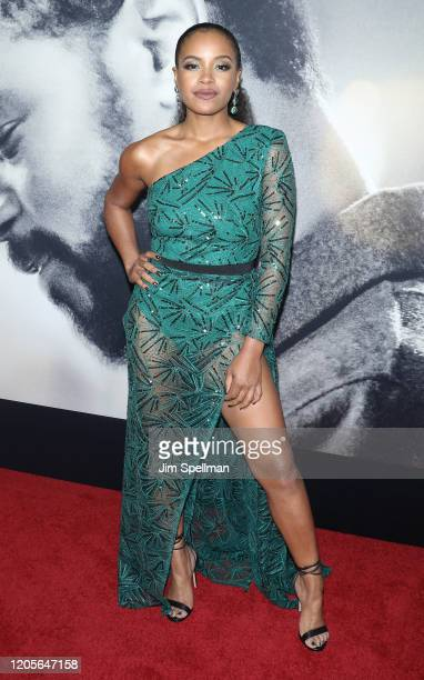 Actress Chante Adams attends the The Photograph world premiere at SVA Theater on February 11 2020 in New York City