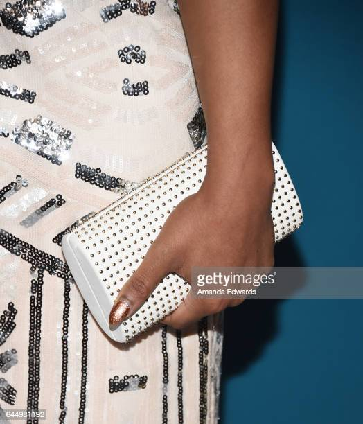 Actress Chante Adams, clutch detail, arrives at the Essence 10th Annual Black Women in Hollywood Awards Gala at the Beverly Wilshire Four Seasons...