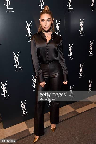 Actress Chantel Jeffries attends the YSL Beauty Club Party at the Ace Hotel on January 10 2017 in Downtown Los Angeles California