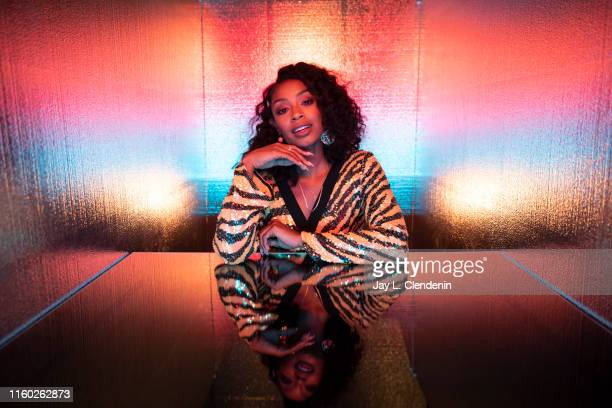 Actress Chantel Riley of 'Wynonna Earp' are photographed for Los Angeles Times at Comic-Con International on July 20, 2019 in San Diego, California....