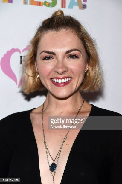 Actress Chantelle Albers arrives at the Farrah Fawcett Foundation's TexMex Fiesta event honoring Stand Up To Cancer at the Wallis Annenberg Center...