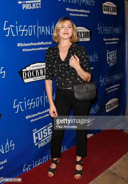 Actress Chantelle Albers attends the Edward Scissorhands A Musical Parody opening night at Rockwell Table and Stage on December 14 2018 in Los...