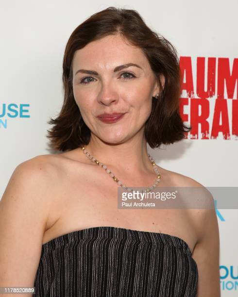 "Actress Chantelle Albers attends the premiere of ""Trauma Therapy"" at the Harmony Gold Theater on October 01, 2019 in Los Angeles, California."