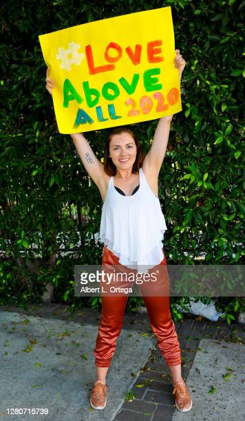 Actress Chantelle Albers participates in supporting the launch of #LOVEaboveALL2020 movement on September 2, 2020 in Hollywood, California....