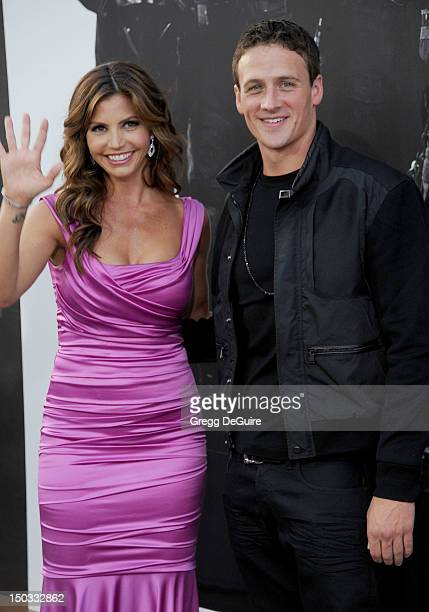 Actress Charisma Carpenter and USA Olympic swimmer Ryan Lochte arrive at the Los Angeles premiere of 'The Expendables 2' at Grauman's Chinese Theatre...